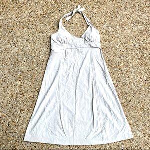 Athleta Pack Anywhere Halter Light Beige Dress XL